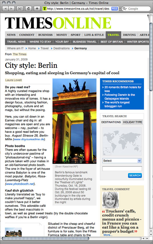 photobooth newspaper articles city style berlin. Black Bedroom Furniture Sets. Home Design Ideas